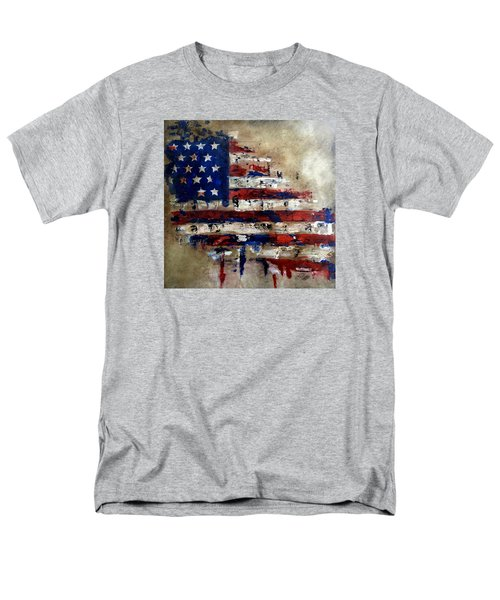 American Flag Men's T-Shirt  (Regular Fit) by Tom Fedro - Fidostudio