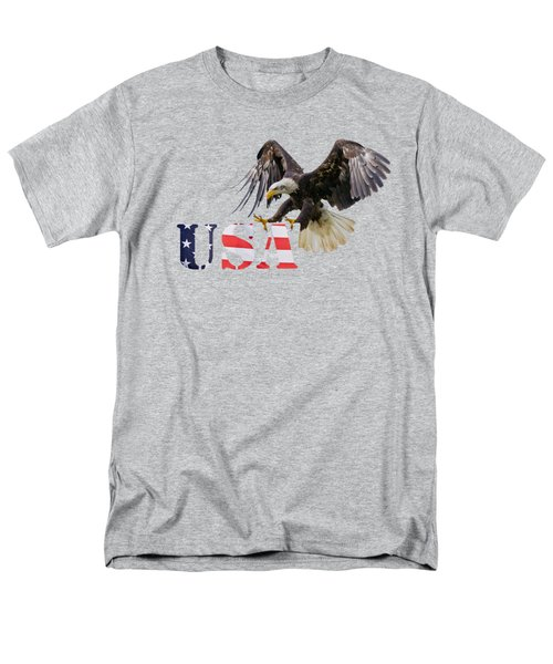 Americ's Eagle Men's T-Shirt  (Regular Fit) by Scott Carruthers