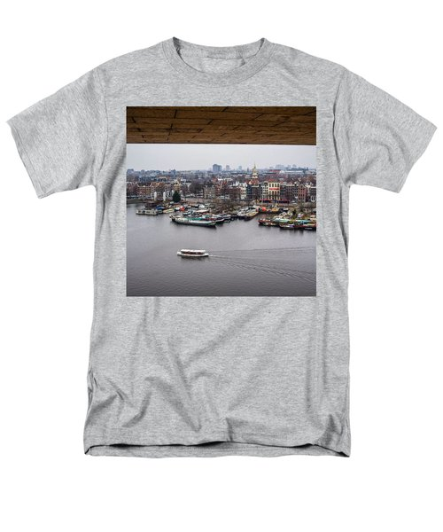 Amsterdam Skyline Men's T-Shirt  (Regular Fit) by Aleck Cartwright