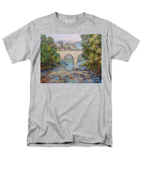 Ancient Bridge Men's T-Shirt  (Regular Fit) by Lou Ann Bagnall