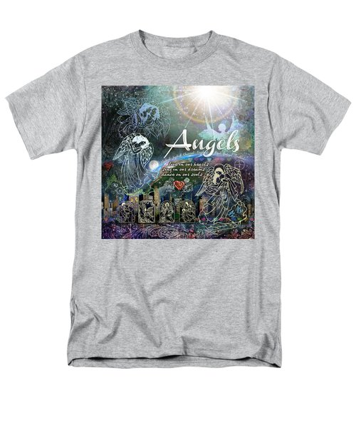 Men's T-Shirt  (Regular Fit) featuring the digital art Angels by Evie Cook
