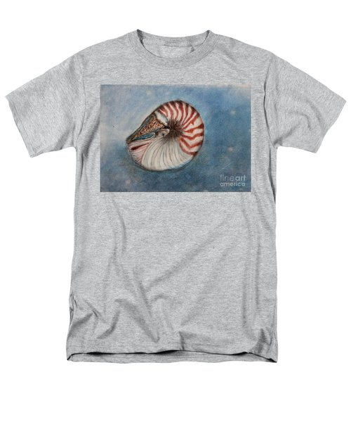 Men's T-Shirt  (Regular Fit) featuring the painting Angel's Seashell  by Kim Nelson