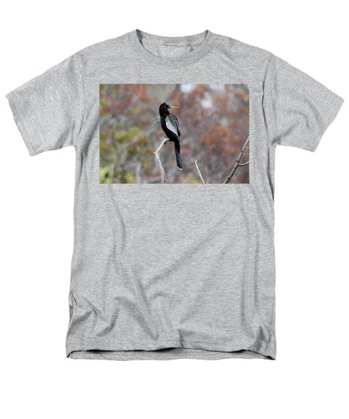 Men's T-Shirt  (Regular Fit) featuring the photograph Anhinga by Gary Wightman