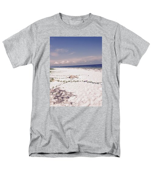 Men's T-Shirt  (Regular Fit) featuring the photograph Anna Maria Island Beyond The White Sand by Jean Marie Maggi