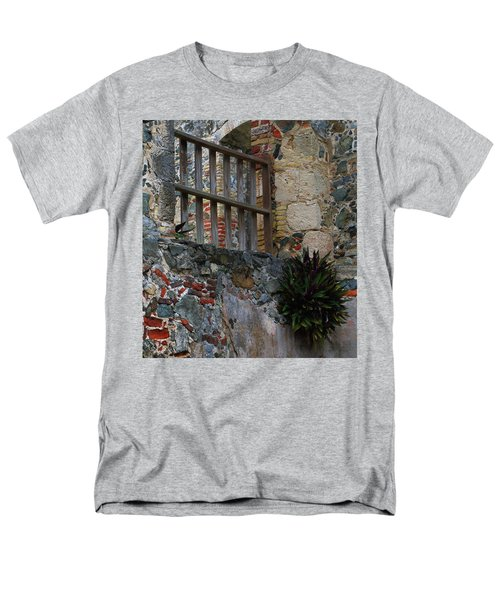 Annaberg Ruin Brickwork At U.s. Virgin Islands National Park Men's T-Shirt  (Regular Fit) by Jetson Nguyen