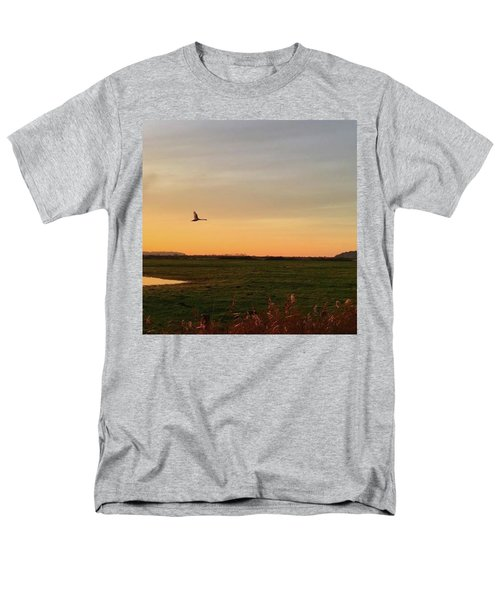 Another Iphone Shot Of The Swan Flying Men's T-Shirt  (Regular Fit) by John Edwards