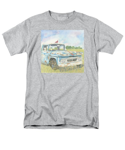 Men's T-Shirt  (Regular Fit) featuring the drawing Apache Out To Pasture by Arlene Crafton