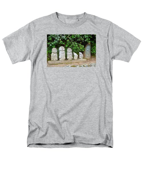 Arashiyama Street Buddah Statues Men's T-Shirt  (Regular Fit) by Eva Kaufman
