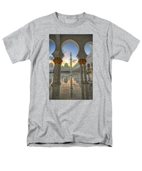 Men's T-Shirt  (Regular Fit) featuring the photograph Arch Sunset Temple by John Swartz