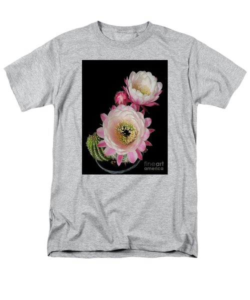 Arizona Desert Cactus Flowers Men's T-Shirt  (Regular Fit) by Merton Allen