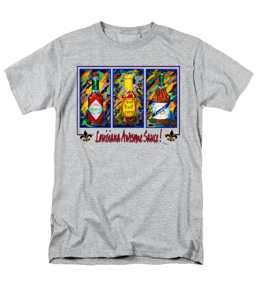 Louisiana Awesome Sauces Men's T-Shirt  (Regular Fit) by Dianne Parks