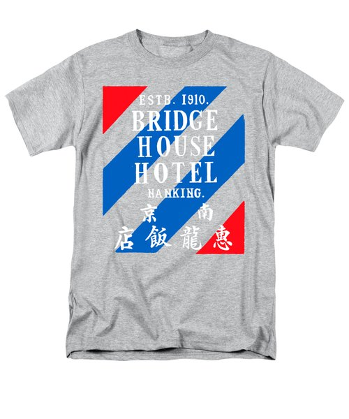 Men's T-Shirt  (Regular Fit) featuring the painting 1920 Bridge House Hotel Nanking China by Historic Image