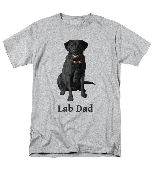 Black Labrador Retriever Lab Dad Men's T-Shirt  (Regular Fit) by Crista Forest