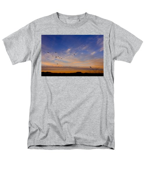 Men's T-Shirt  (Regular Fit) featuring the photograph As Night Falls by Barbara Manis