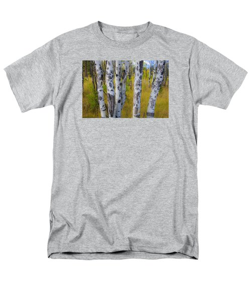 Men's T-Shirt  (Regular Fit) featuring the photograph Aspens by Gary Lengyel