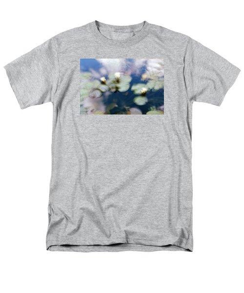 Men's T-Shirt  (Regular Fit) featuring the photograph At Claude Monet's Water Garden 4 by Dubi Roman