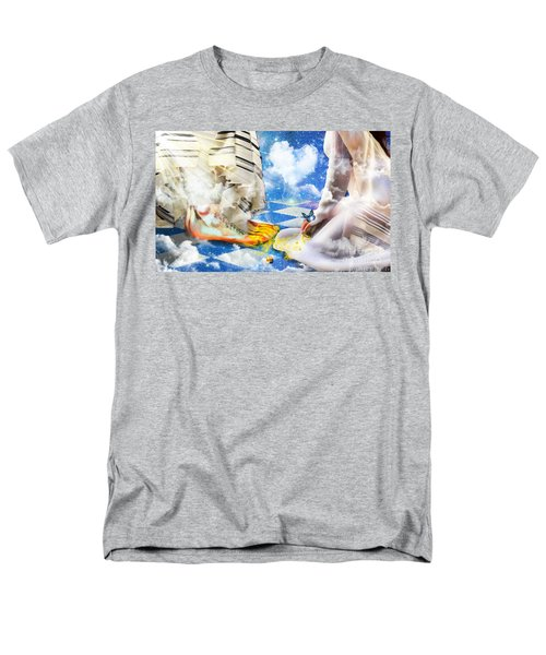 Men's T-Shirt  (Regular Fit) featuring the digital art At The Feet Of Jesus by Dolores Develde