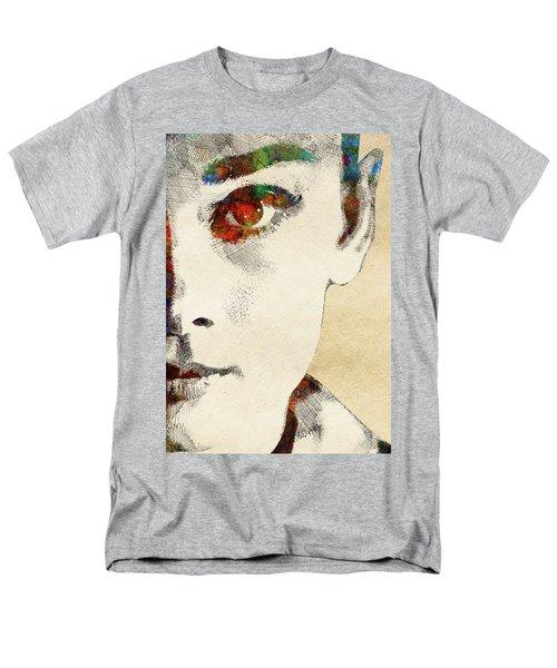 Audrey Half Face Portrait Men's T-Shirt  (Regular Fit) by Mihaela Pater