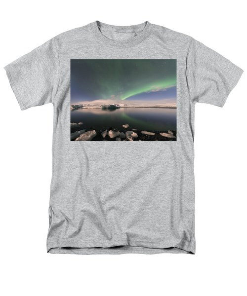 Aurora Borealis And Reflection Men's T-Shirt  (Regular Fit) by Wanda Krack