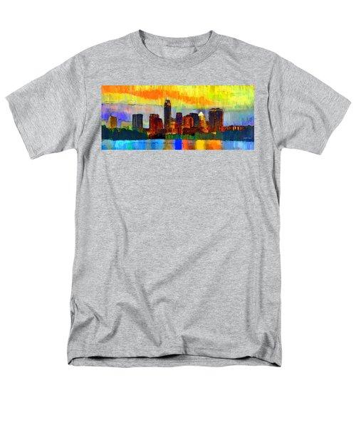 Austin Texas Skyline 211 - Da Men's T-Shirt  (Regular Fit)