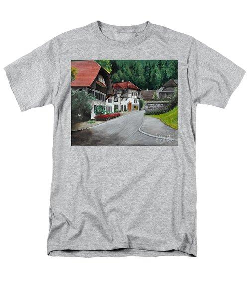 Men's T-Shirt  (Regular Fit) featuring the painting Austrian Village by John Black