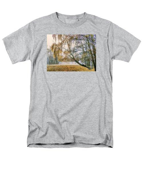 Autumn Colorful Birch Trees Paint Men's T-Shirt  (Regular Fit) by Odon Czintos