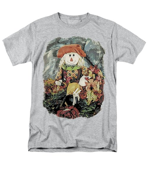 Autumn Country Scarecrow Men's T-Shirt  (Regular Fit) by Kathy Kelly