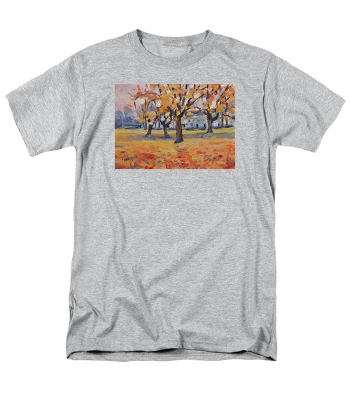 Men's T-Shirt  (Regular Fit) featuring the painting Autumn In The Villa Park Maastricht by Nop Briex