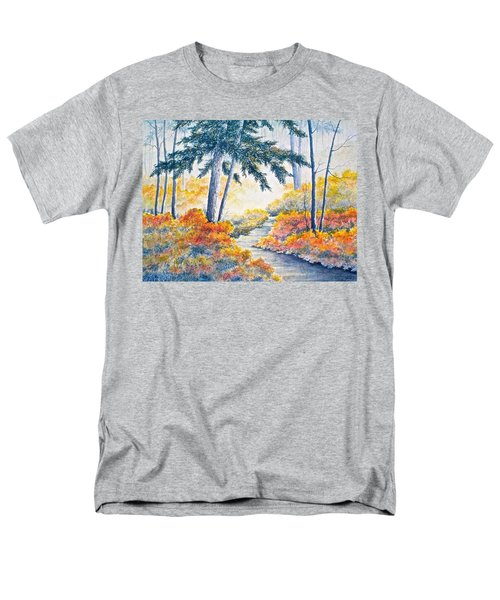 Men's T-Shirt  (Regular Fit) featuring the painting Autumn Mist by Carolyn Rosenberger