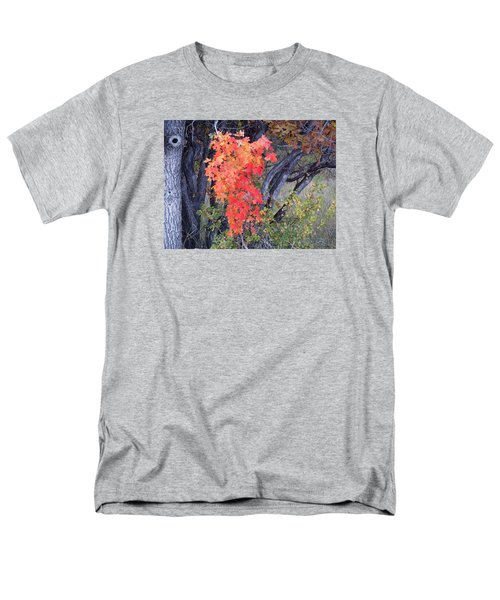 Men's T-Shirt  (Regular Fit) featuring the photograph Autumn Oak Leaves by Deborah Moen