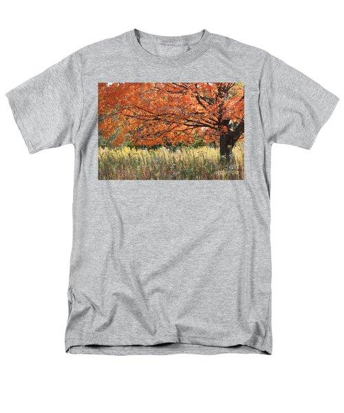 Autumn Red   Men's T-Shirt  (Regular Fit) by Paula Guttilla