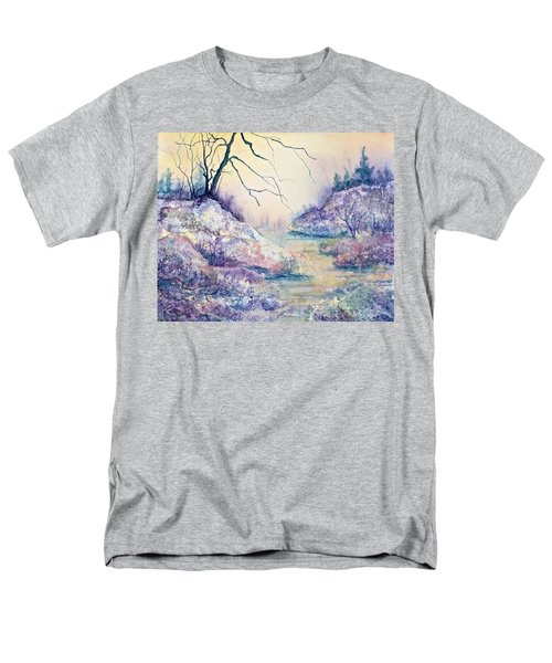 Autumnscape In Purple Men's T-Shirt  (Regular Fit) by Carolyn Rosenberger