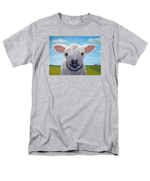 Baby Farm Lamb Sheep  Men's T-Shirt  (Regular Fit)