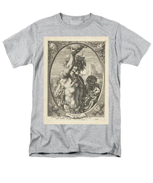 Bacchus God Of Ectasy Men's T-Shirt  (Regular Fit) by R Muirhead Art