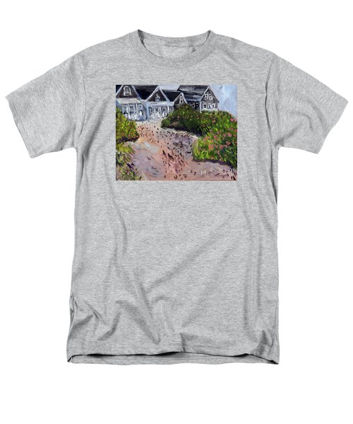 Men's T-Shirt  (Regular Fit) featuring the painting Back From The Beach by Michael Helfen