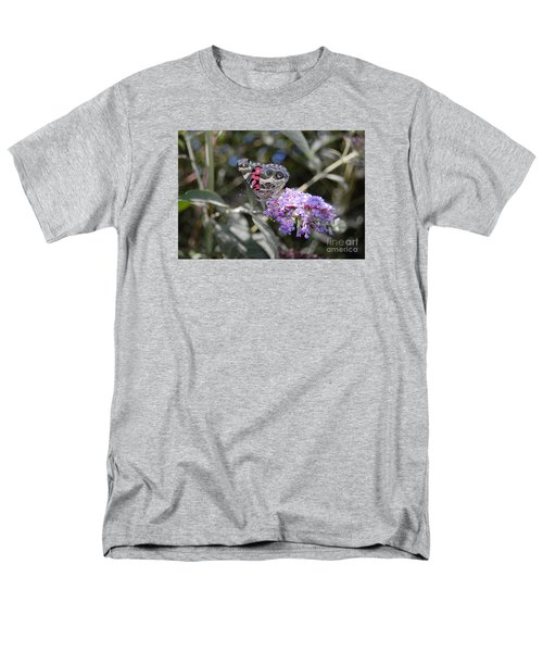 Backyard Buckeye Butterfly Men's T-Shirt  (Regular Fit) by Debra Thompson