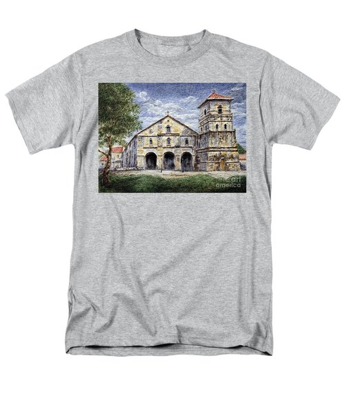 Men's T-Shirt  (Regular Fit) featuring the painting Baclayon Church by Joey Agbayani