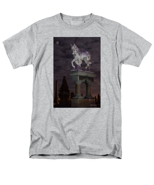 Baker Horse Under The Full Moon Men's T-Shirt  (Regular Fit) by Stephen  Johnson