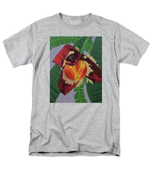 Men's T-Shirt  (Regular Fit) featuring the painting Banana Blossom by Hilda and Jose Garrancho