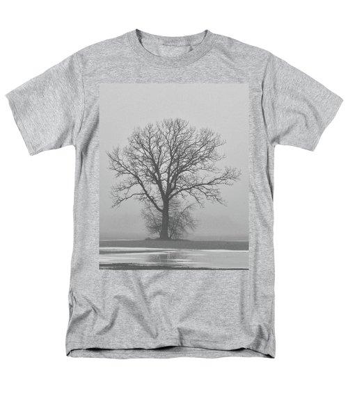 Bare Tree In Fog Men's T-Shirt  (Regular Fit) by Nancy Landry