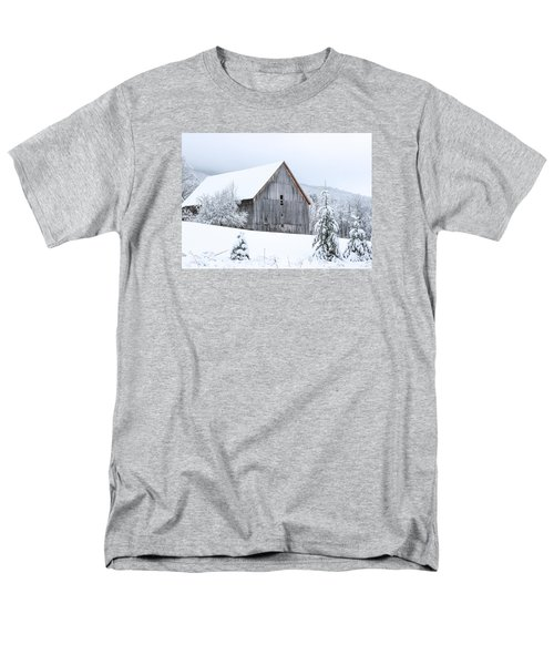 Barn After Snow Men's T-Shirt  (Regular Fit) by Tim Kirchoff