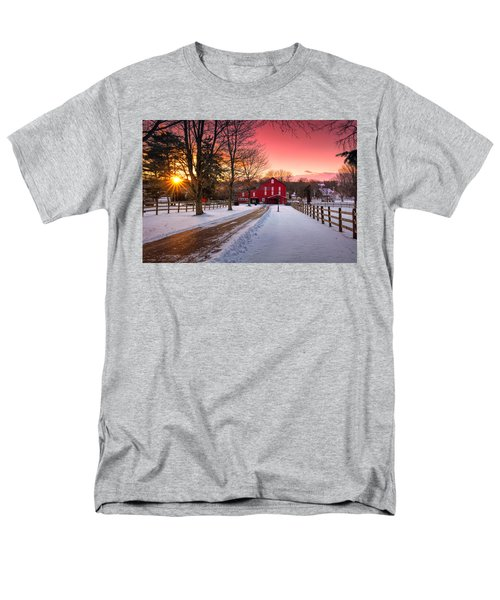 Barn At Sunset  Men's T-Shirt  (Regular Fit) by Emmanuel Panagiotakis