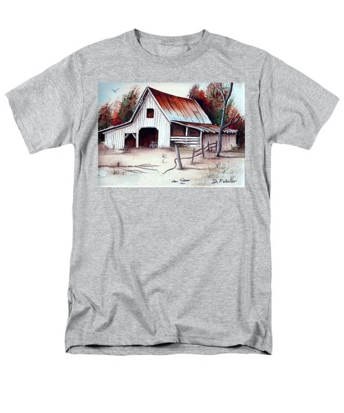 Men's T-Shirt  (Regular Fit) featuring the painting Barn by Denise Fulmer