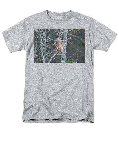 Barred Owl 1396 Men's T-Shirt  (Regular Fit) by Michael Peychich