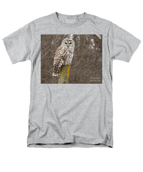 Barred Owl Men's T-Shirt  (Regular Fit) by Kathy M Krause