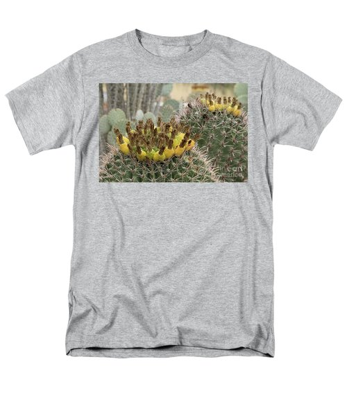 Men's T-Shirt  (Regular Fit) featuring the photograph Barrel Cactus Closeup by Anne Rodkin