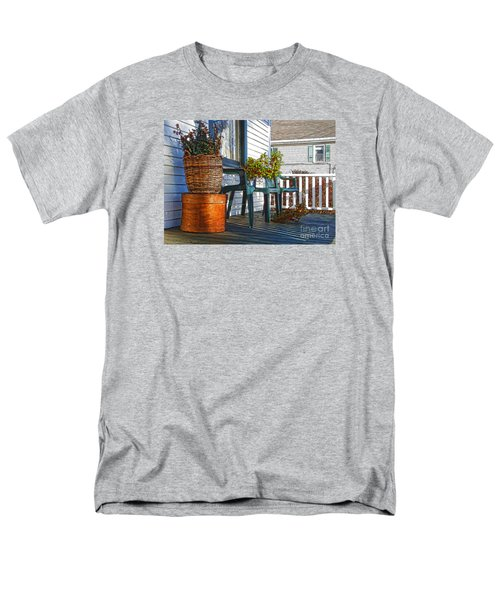 Basket Porch Men's T-Shirt  (Regular Fit) by Betsy Zimmerli