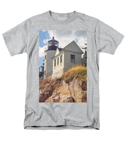 Men's T-Shirt  (Regular Fit) featuring the photograph Bass Harbor Light Photo by Peter J Sucy