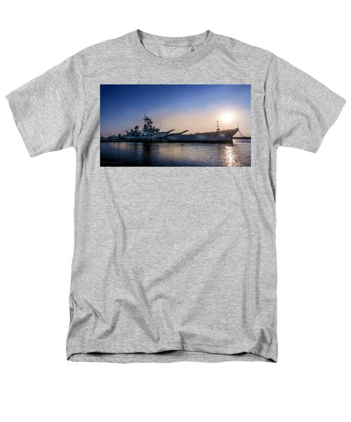 Men's T-Shirt  (Regular Fit) featuring the photograph Battleship New Jersey by Marvin Spates