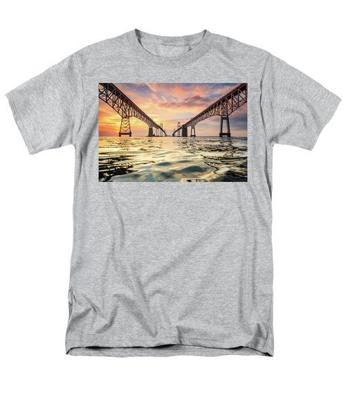 Men's T-Shirt  (Regular Fit) featuring the photograph Bay Bridge Impression by Jennifer Casey